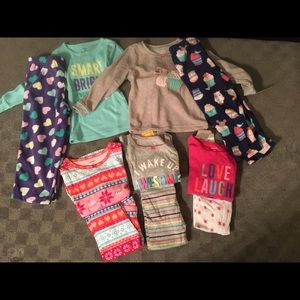 NWOT/NWT 2T Girl Pajama Lot